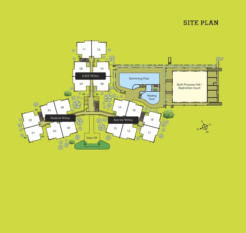 Site Plan of Danau Perintis