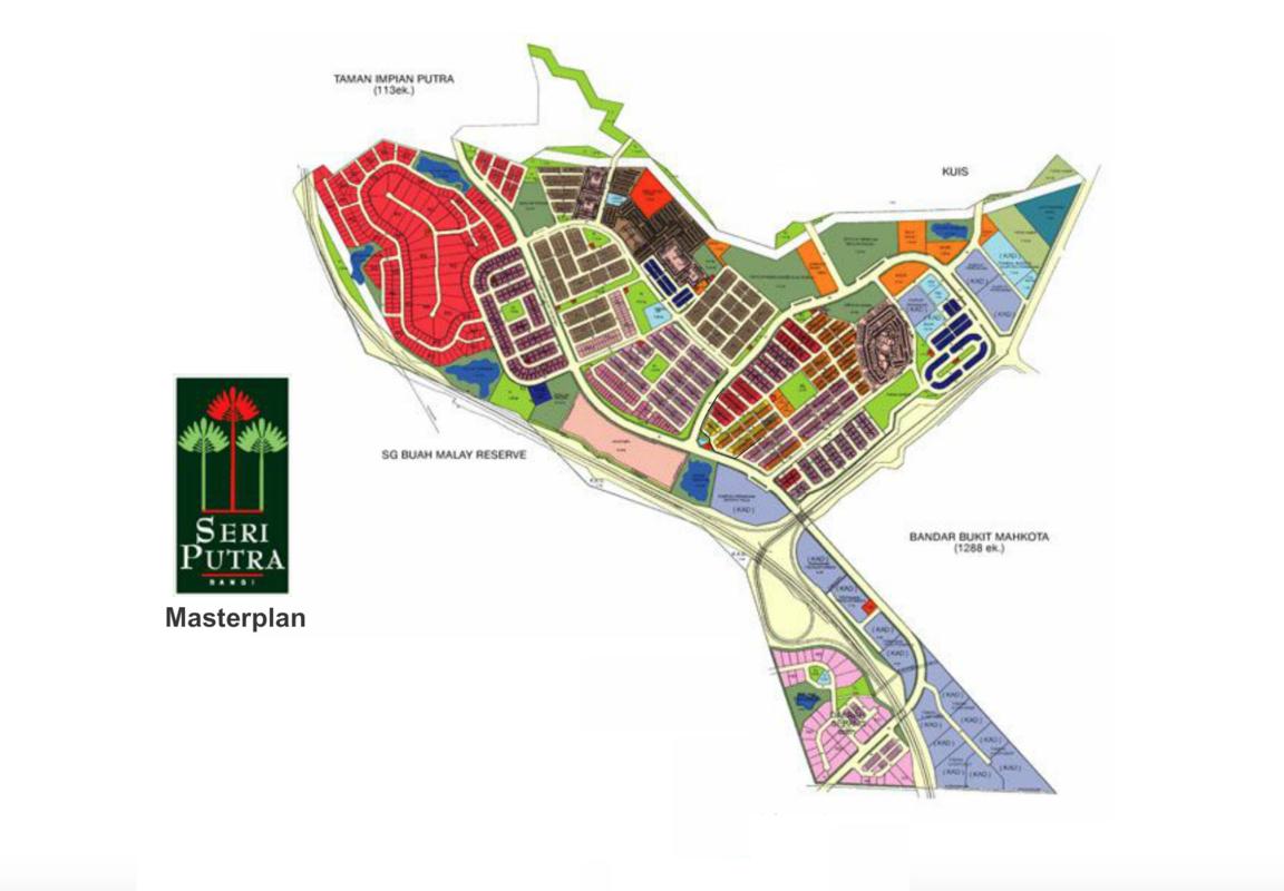 Master Plan of Putra 1 Apartment