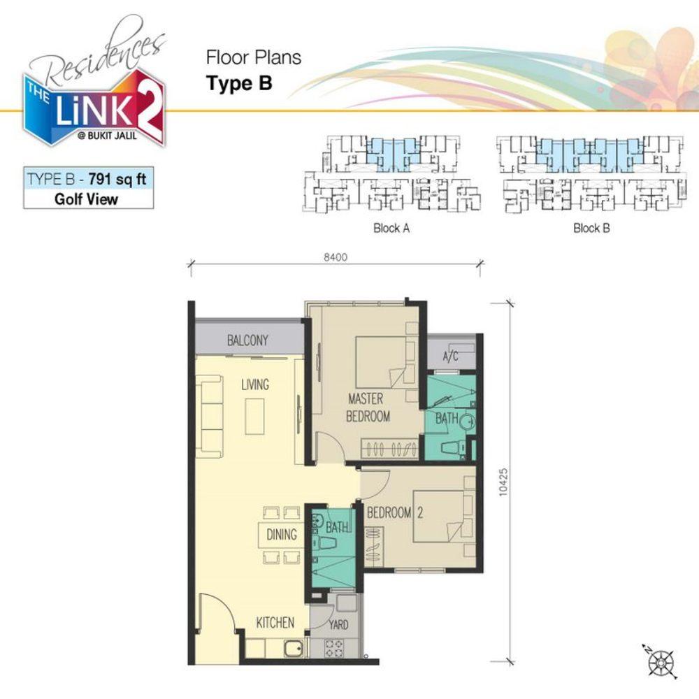 The Link 2 @ Bukit Jalil Type B Floor Plan