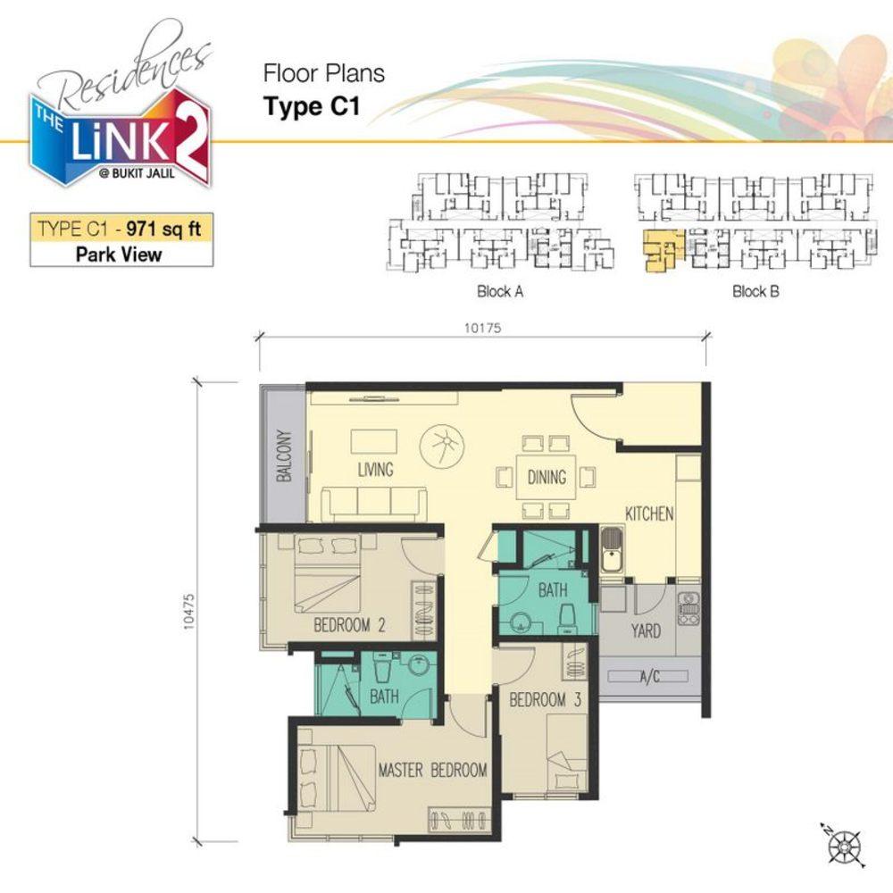 The Link 2 @ Bukit Jalil Type C1 Floor Plan