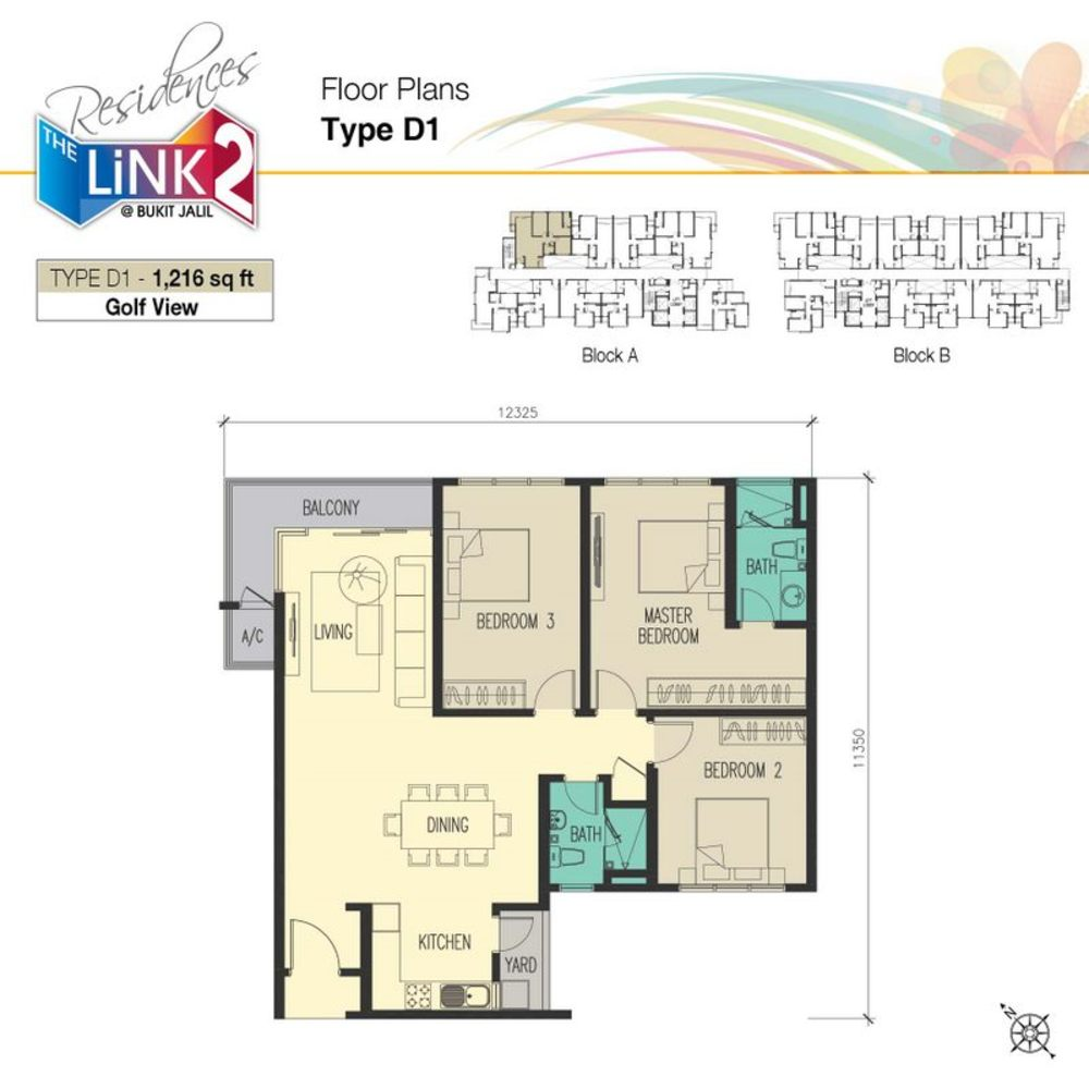 The Link 2 @ Bukit Jalil Type D1 Floor Plan