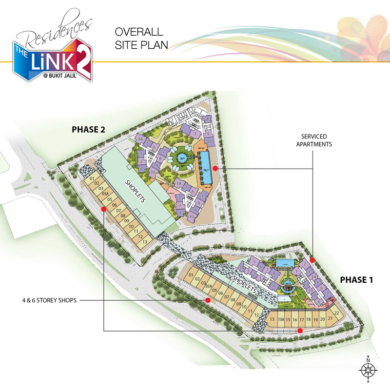 Site Plan of The Link 2 @ Bukit Jalil