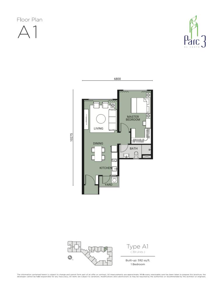 Parc 3 Type A1 Floor Plan