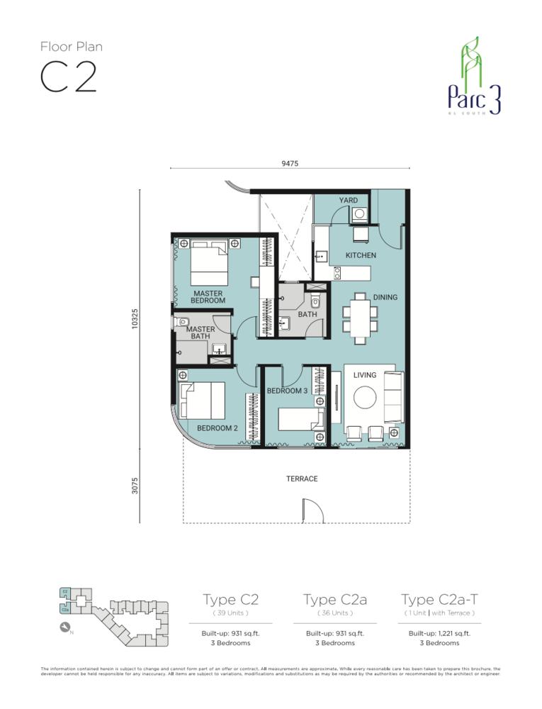 Parc 3 Type C2 Floor Plan