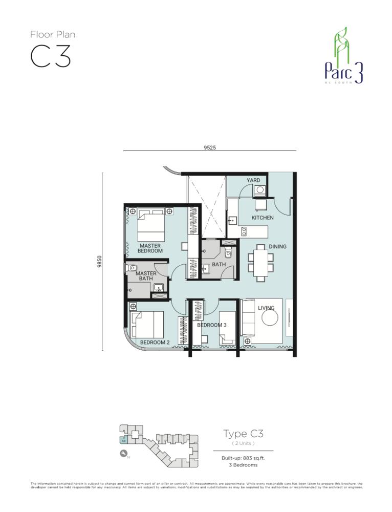 Parc 3 Type C3 Floor Plan