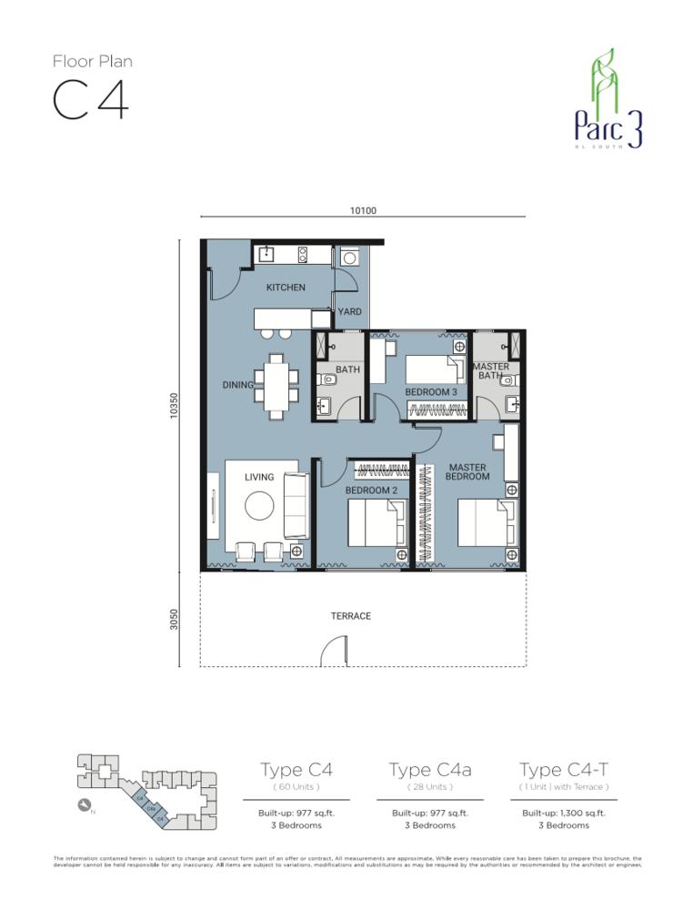 Parc 3 Type C4 Floor Plan