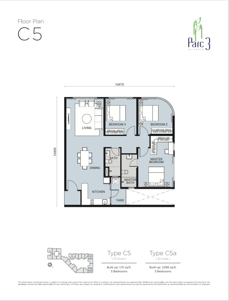 Parc 3 Type C5 Floor Plan