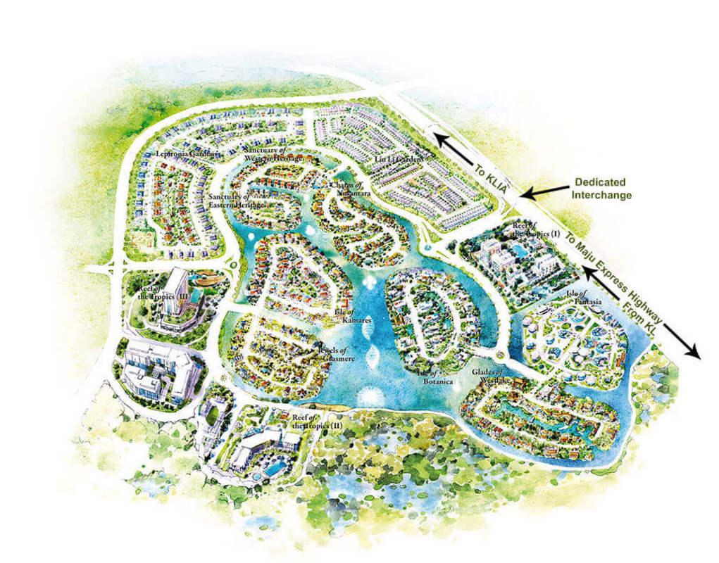 Master Plan of Isle of Kamares @ Setia Eco Glades