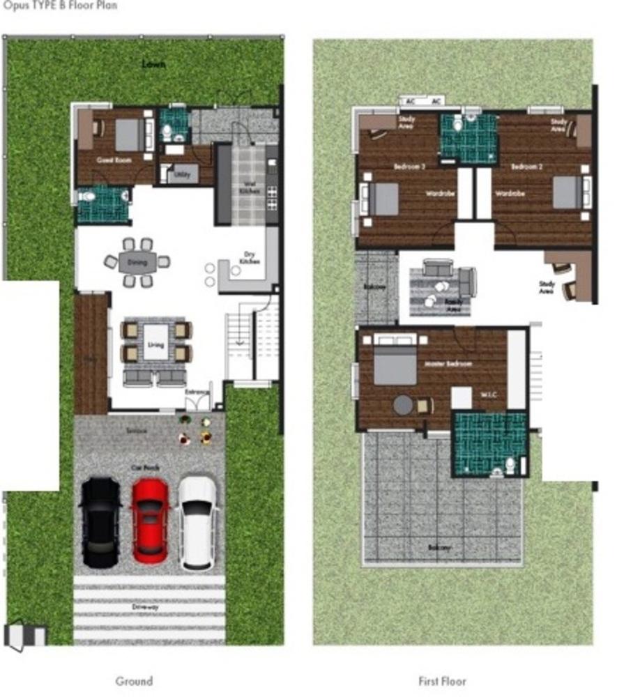 Opus @ Lake Vicinity Type B Floor Plan