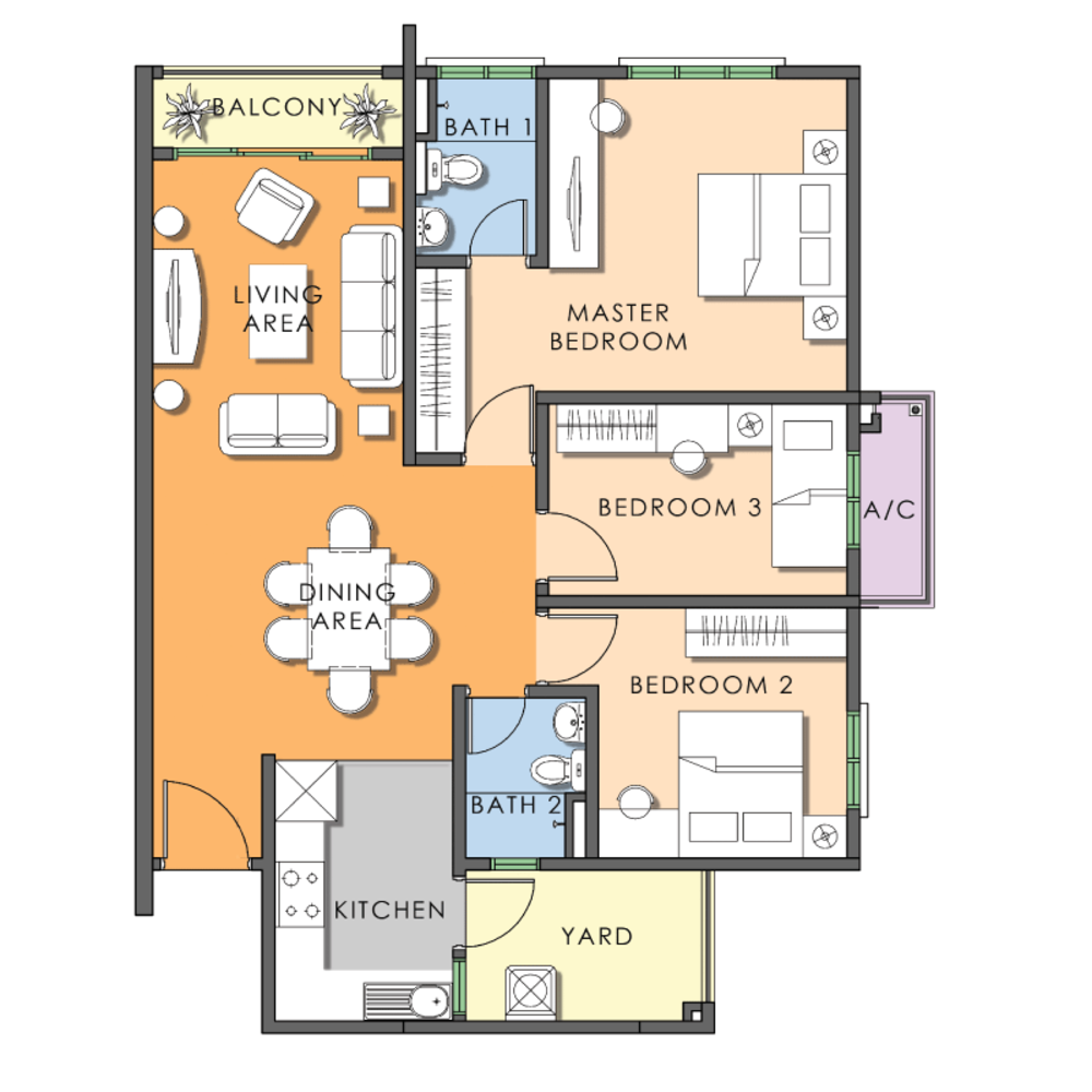 Saujana Aster Phase 2 - Type E Floor Plan