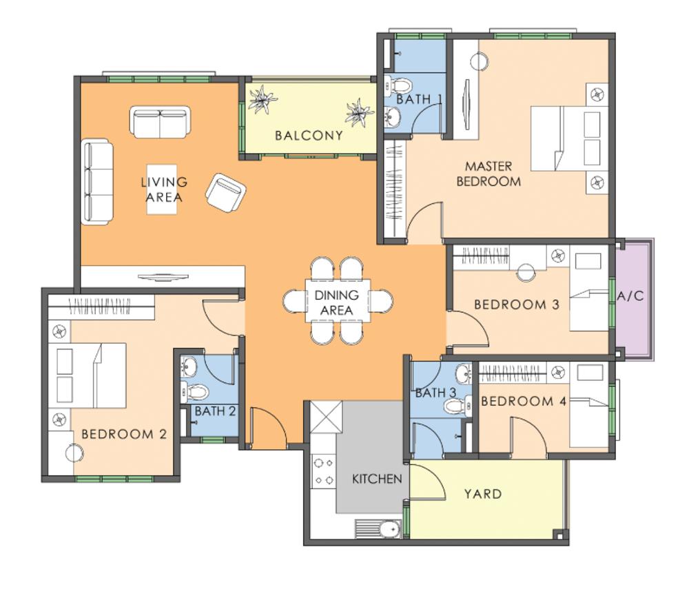 Saujana Aster Phase 2 - Type F Floor Plan