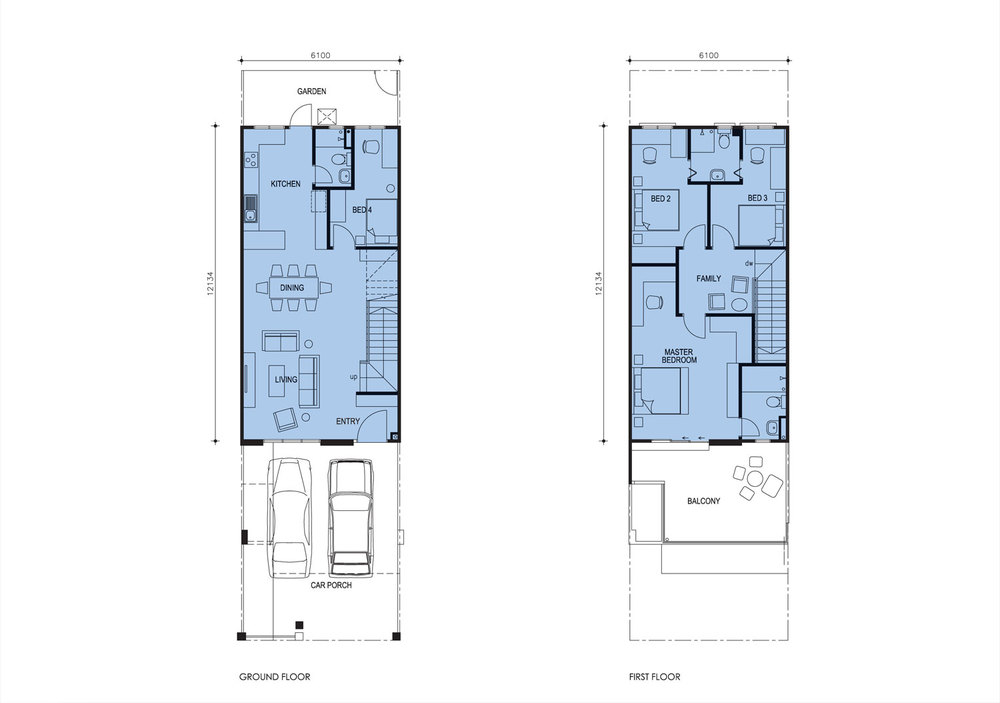 Taman Titi Heights Laurel Floor Plan