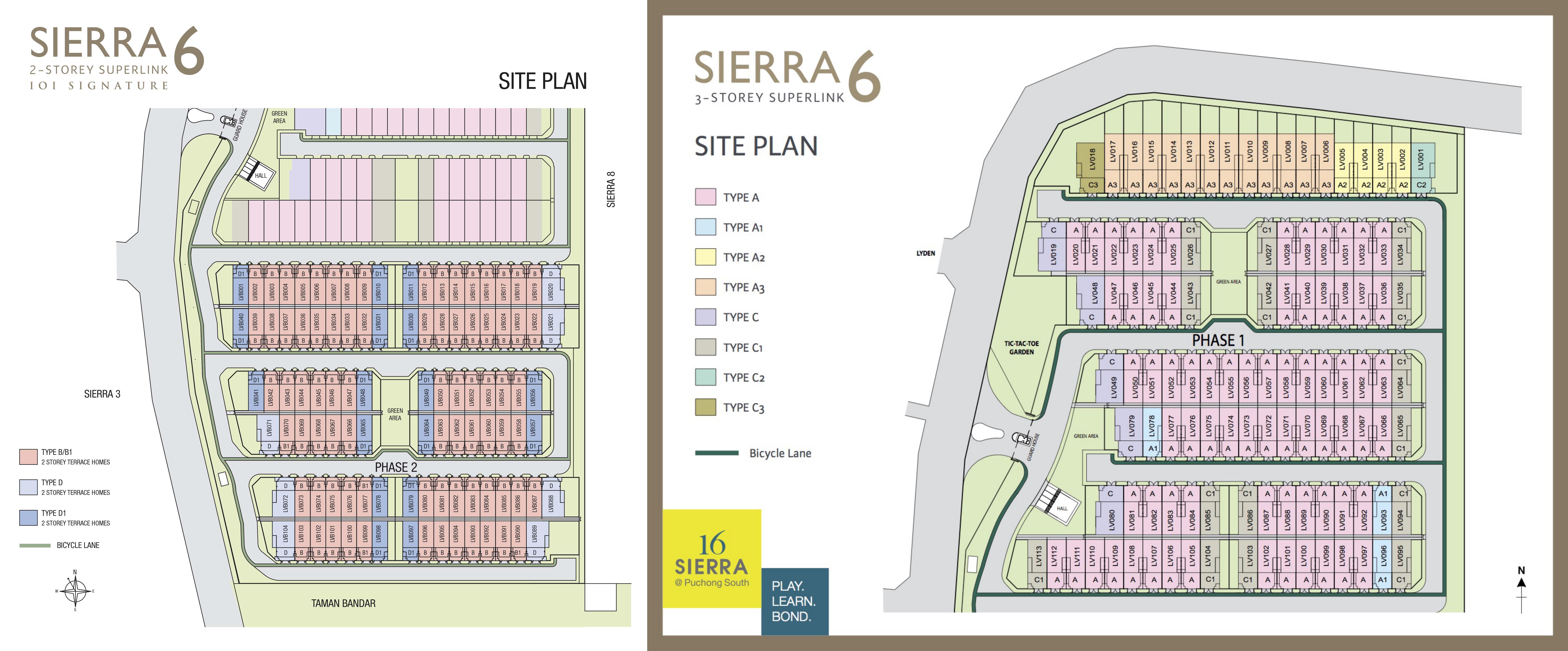Site Plan of Sierra 6