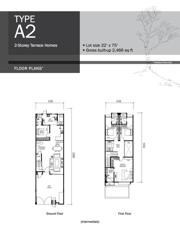 Lyden Type A2 Floor Plan