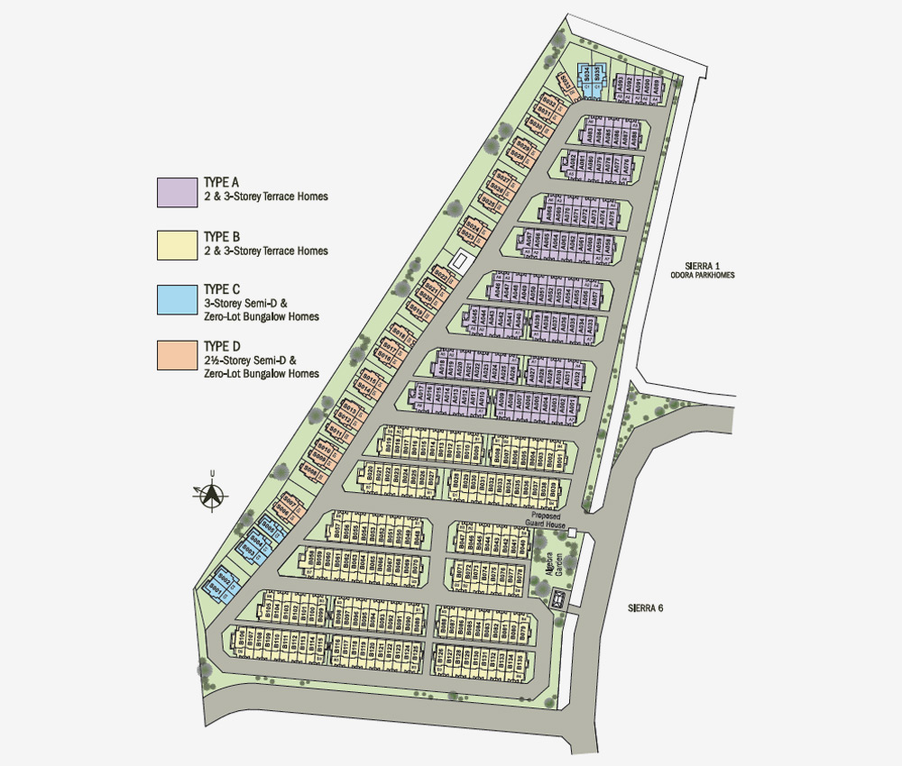 Site Plan of Lyden