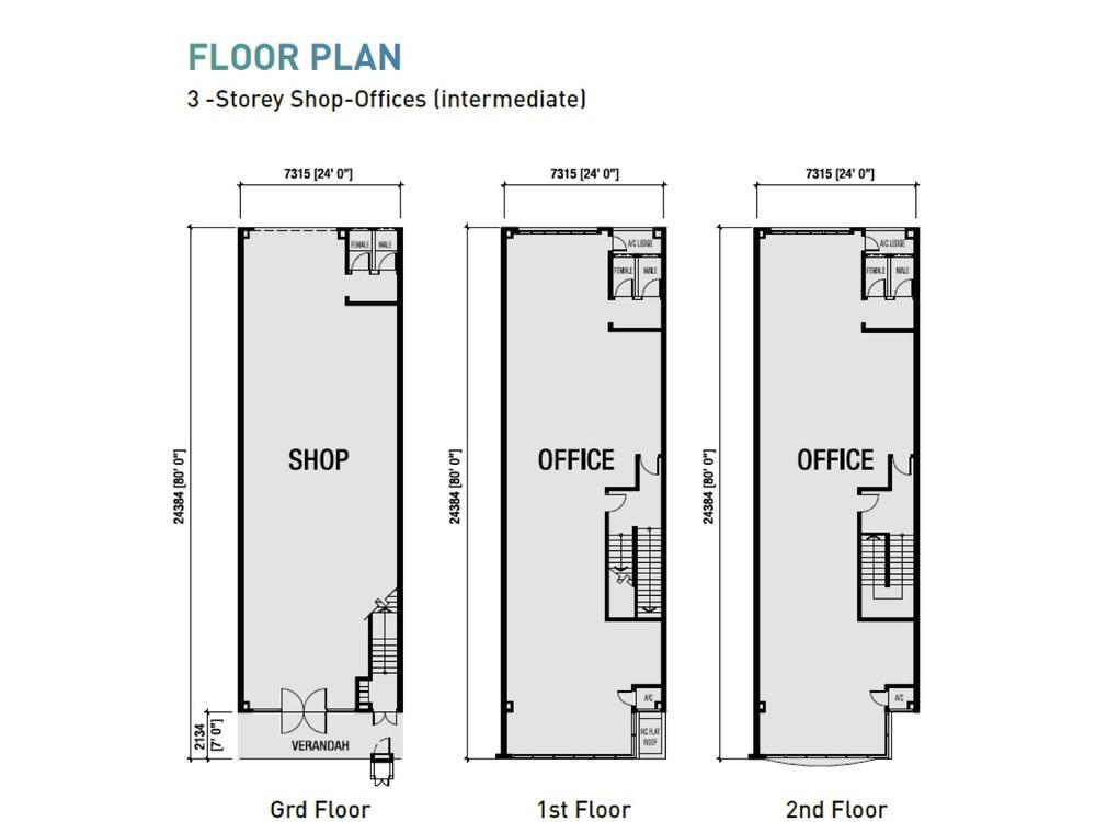 Sierra Zentro 1 Typical Unit Floor Plan