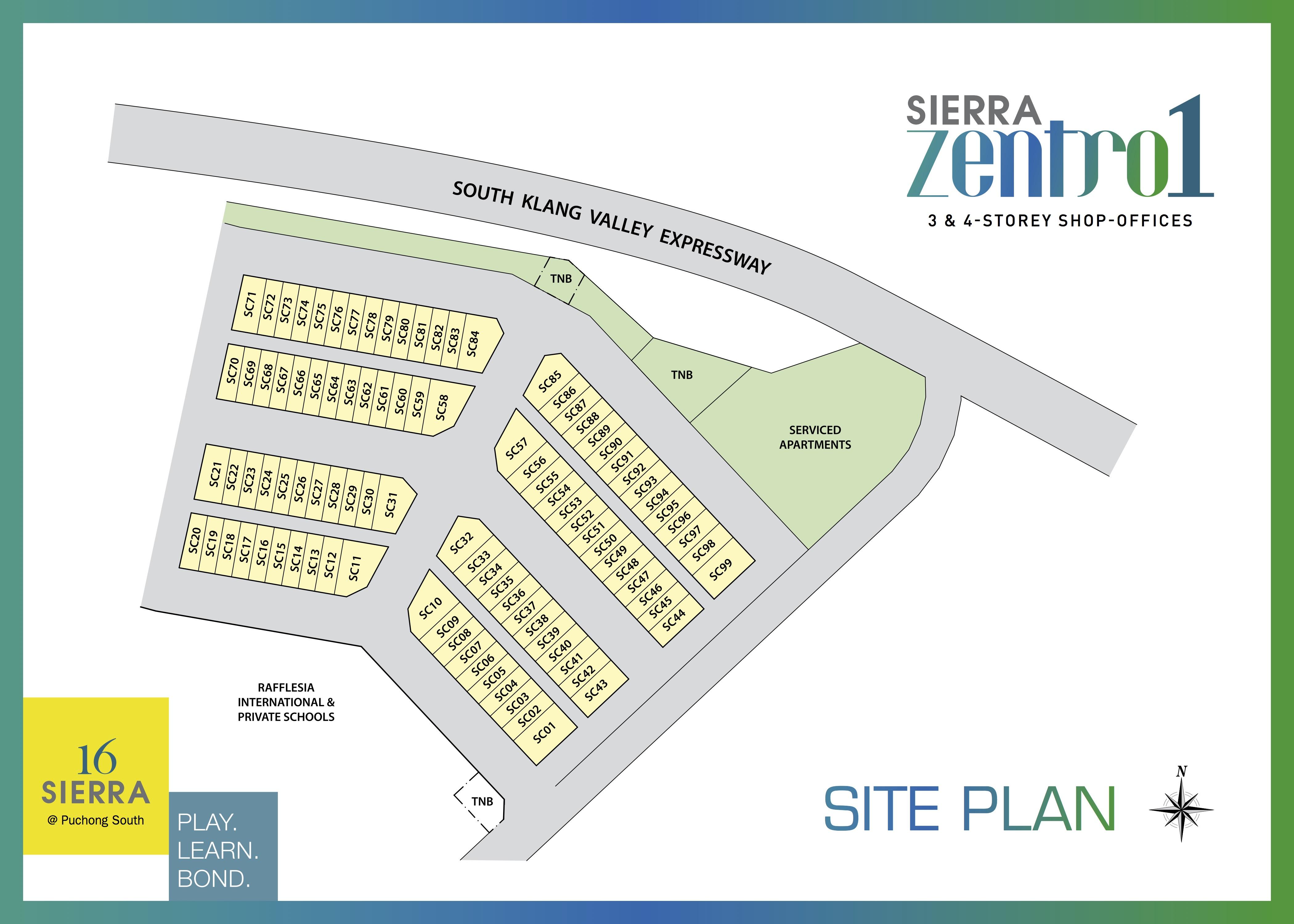 Site Plan of Sierra Zentro 1