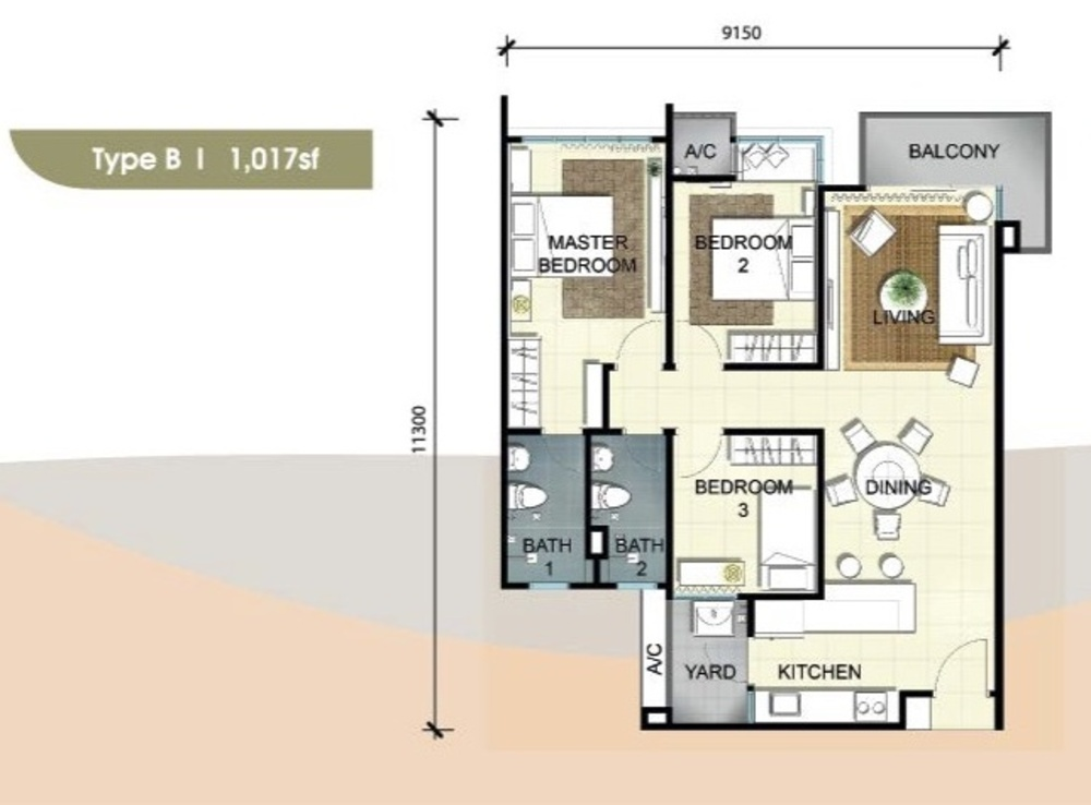 Savanna Executive Suites Type B Floor Plan