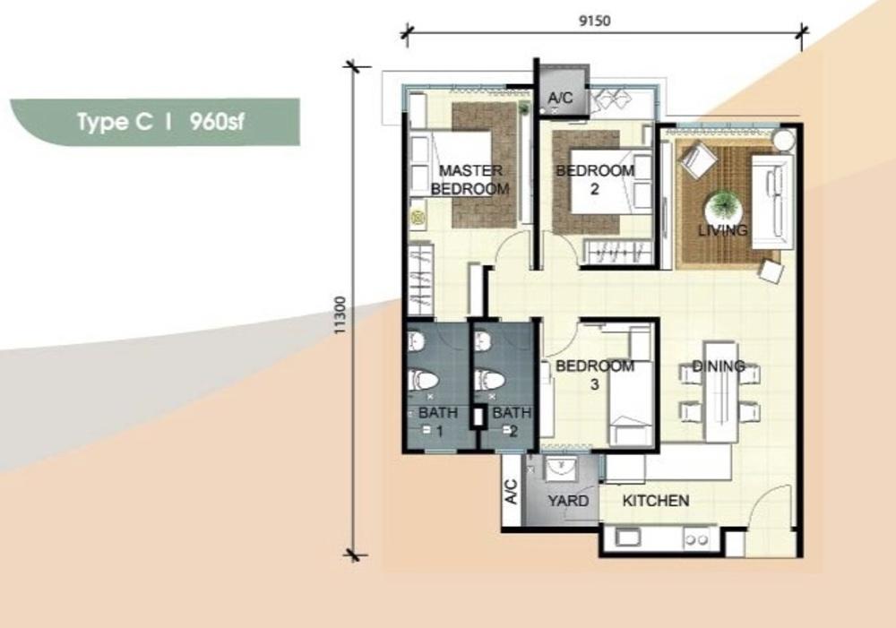Savanna Executive Suites Type C Floor Plan