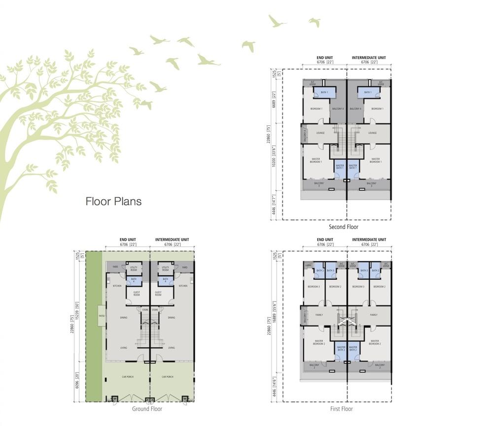 Avens Residence 3 Storey Link House Floor Plan