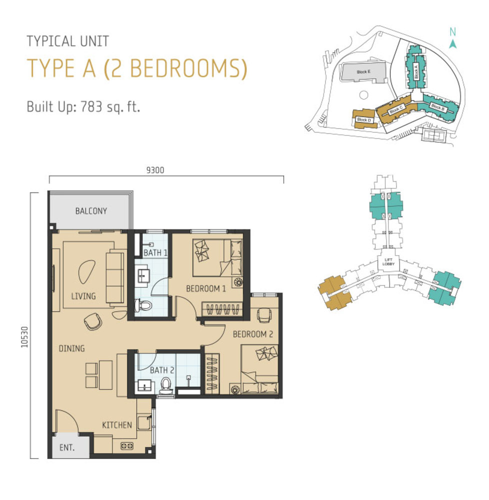 Windmill Upon Hills Type A Floor Plan