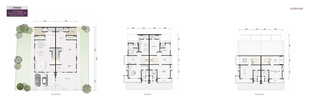 Damai Floresta Evodia Floor Plan