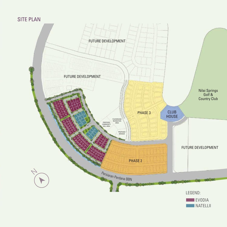 Site Plan of Damai Floresta