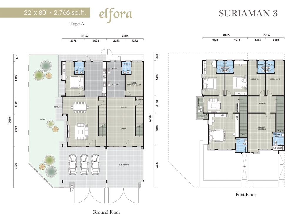 Suriaman 3 Elfora Floor Plan