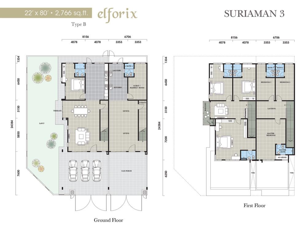 Suriaman 3 Elforix Floor Plan