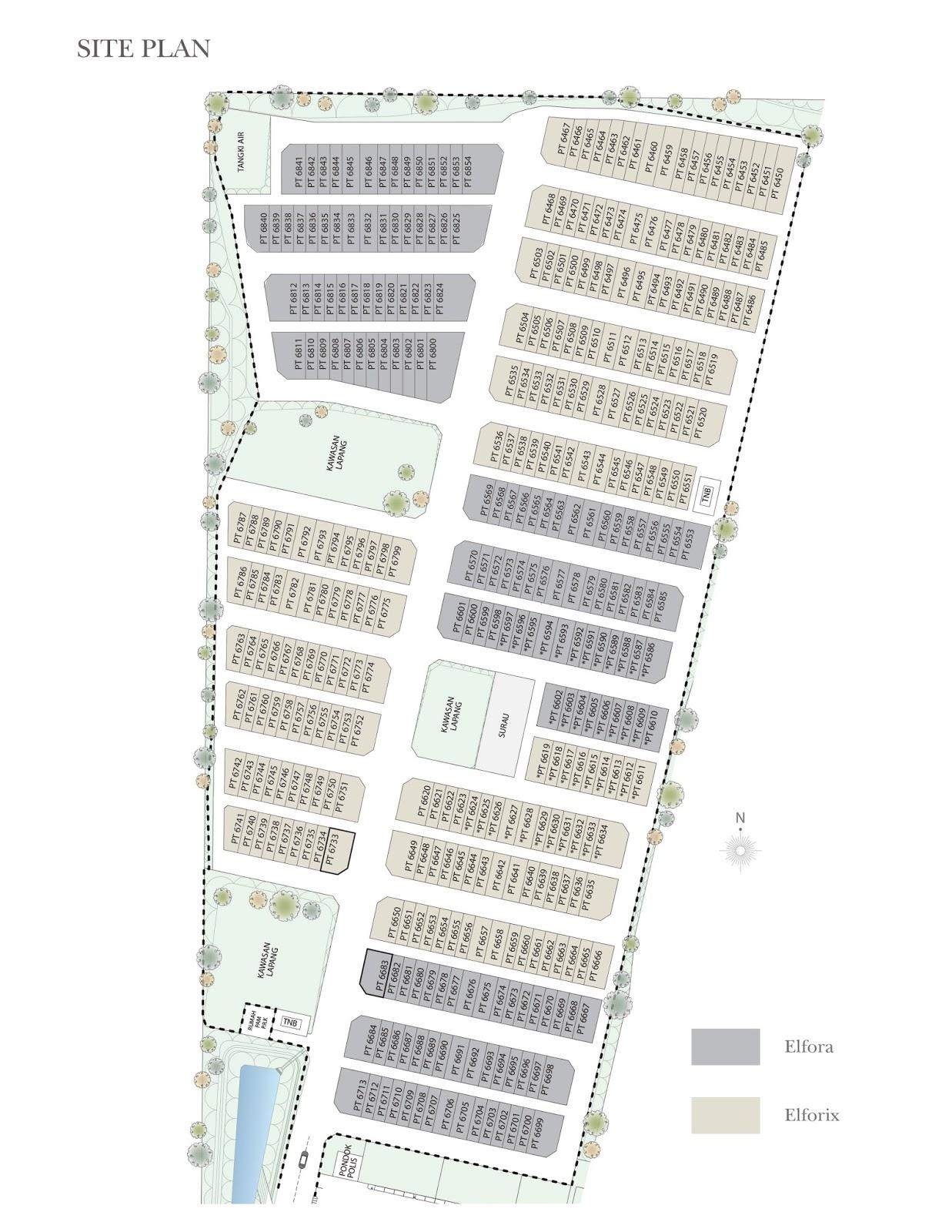 Site Plan of Suriaman 3