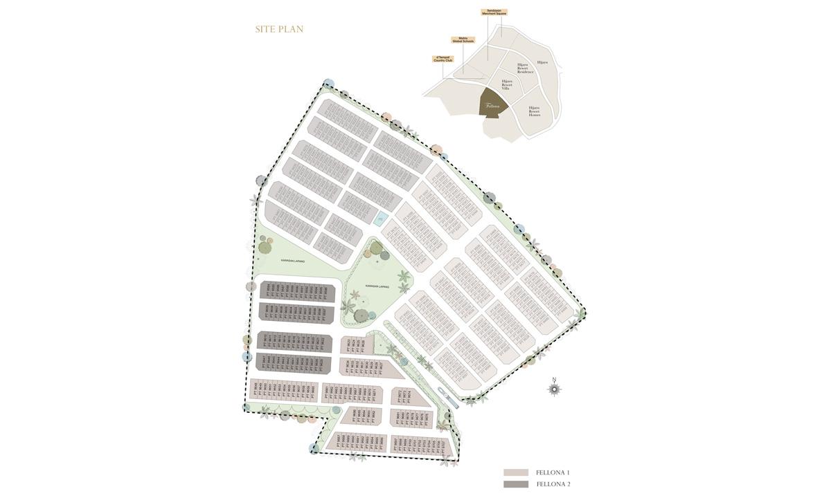 Site Plan of Fellona