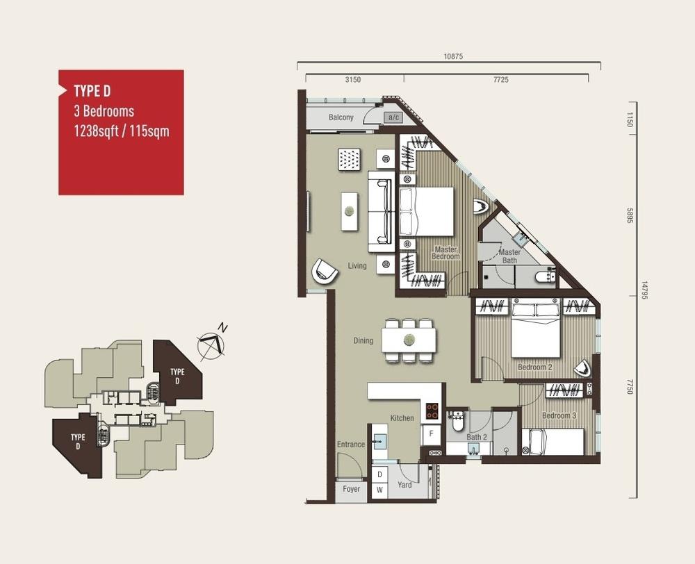 Vivo Residential @ 9 Seputeh Type D Floor Plan