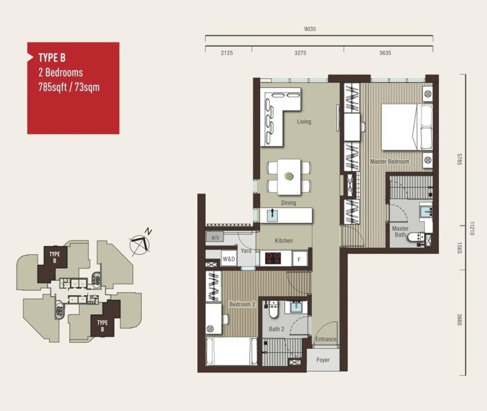 Vivo Residential @ 9 Seputeh Type B Floor Plan