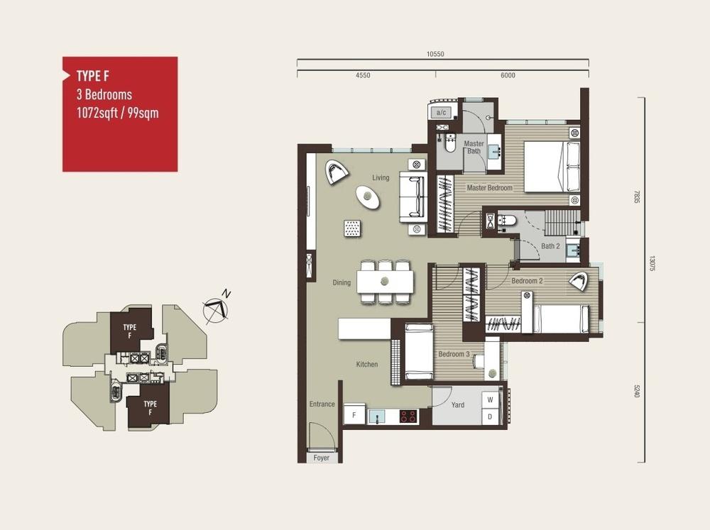 Vivo Residential @ 9 Seputeh Type F Floor Plan