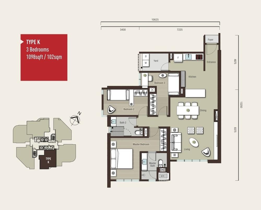 Vivo Residential @ 9 Seputeh Type K Floor Plan
