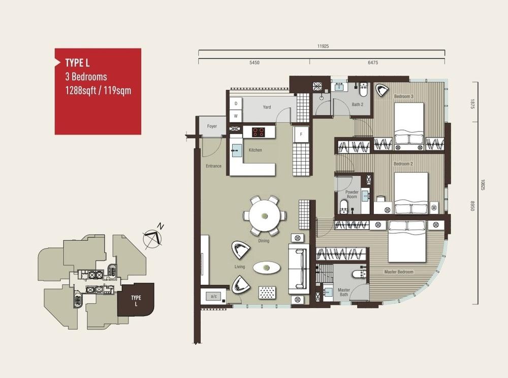 Vivo Residential @ 9 Seputeh Type L Floor Plan
