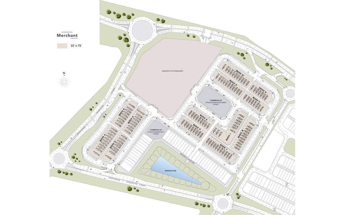 Site Plan of Sendayan Merchant Square