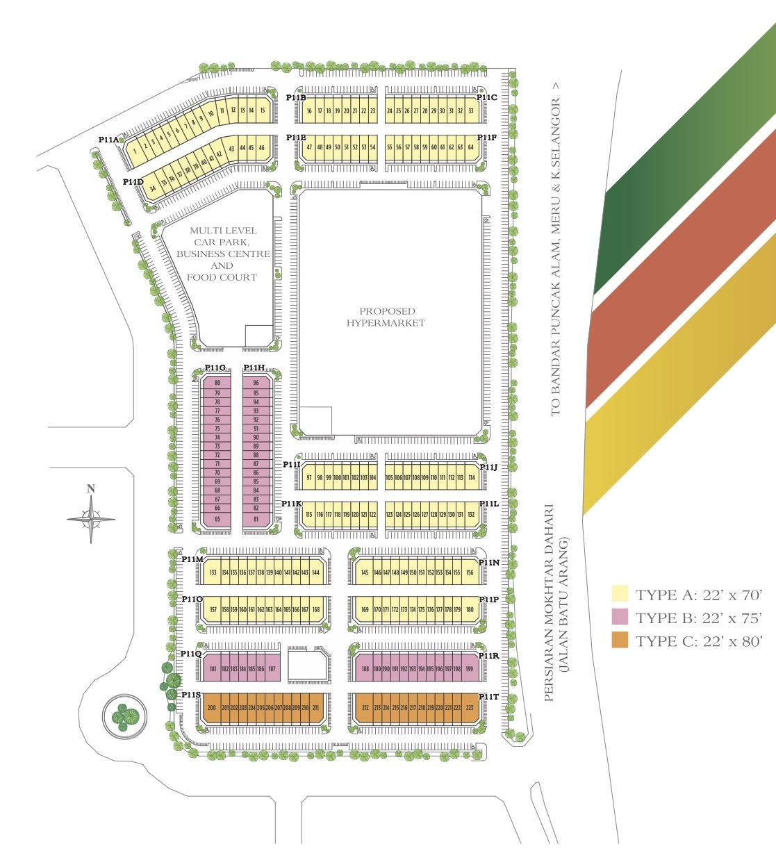 Site Plan of HillPark Avenue