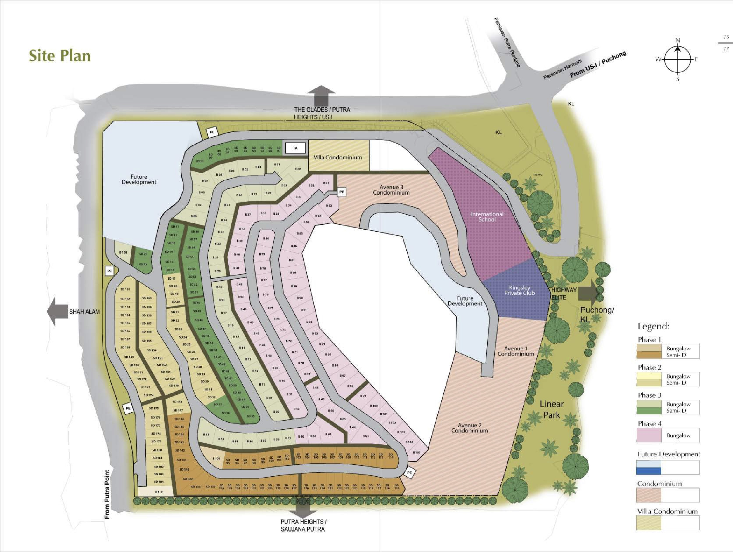 Site Plan of Kingsley Hills