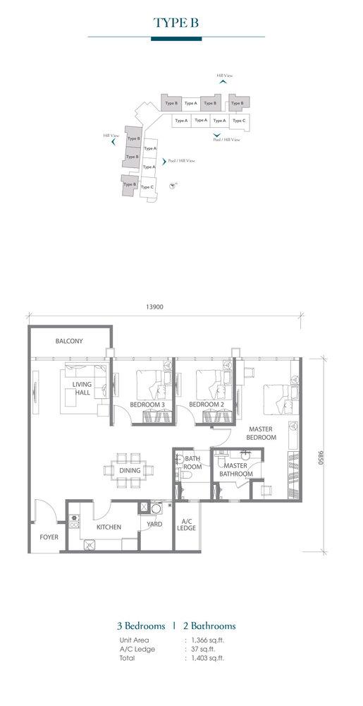Eco Terraces Type B Floor Plan