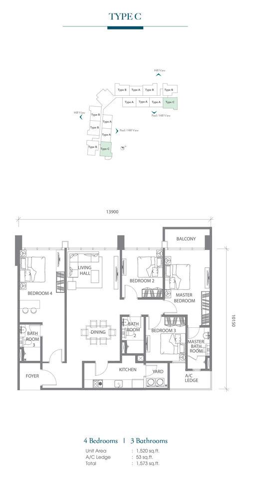 Eco Terraces Type C Floor Plan