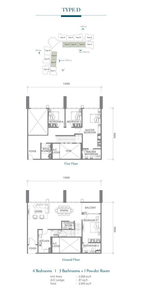 Eco Terraces Type D Floor Plan