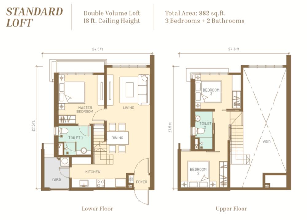 Maju Kuala Lumpur Standard Loft Floor Plan