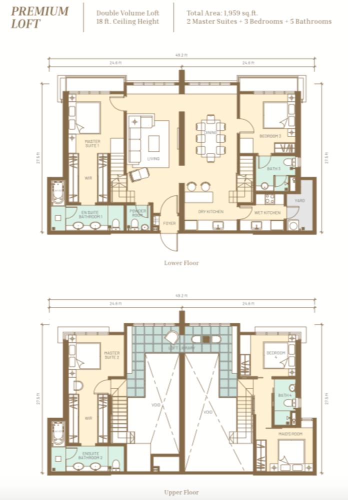 Maju Kuala Lumpur Premium Loft Floor Plan