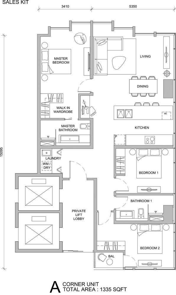 City of Dreams Type A Floor Plan