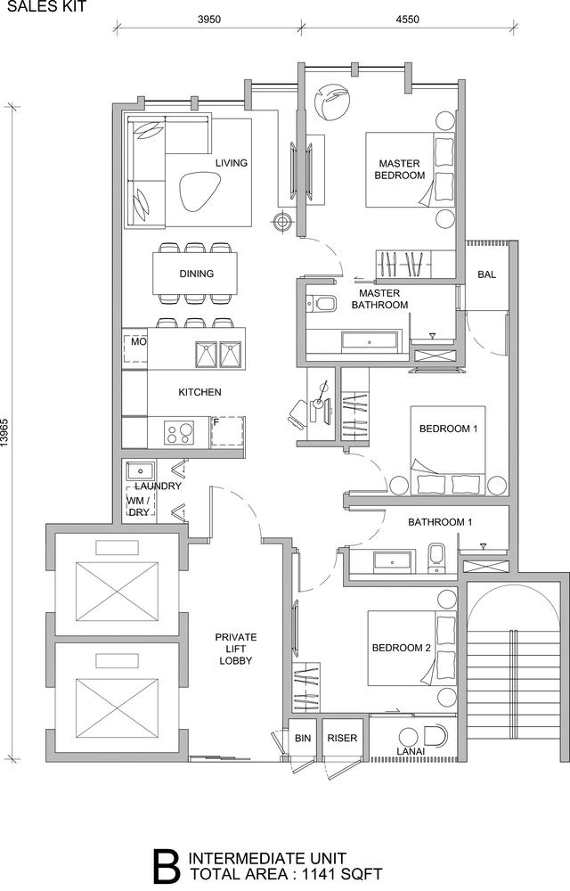 City of Dreams Type B Floor Plan