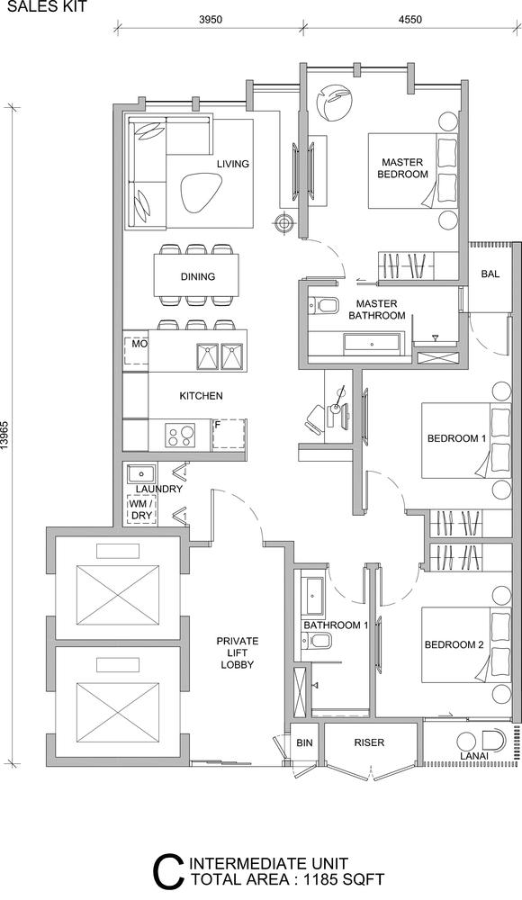 City of Dreams Type C Floor Plan