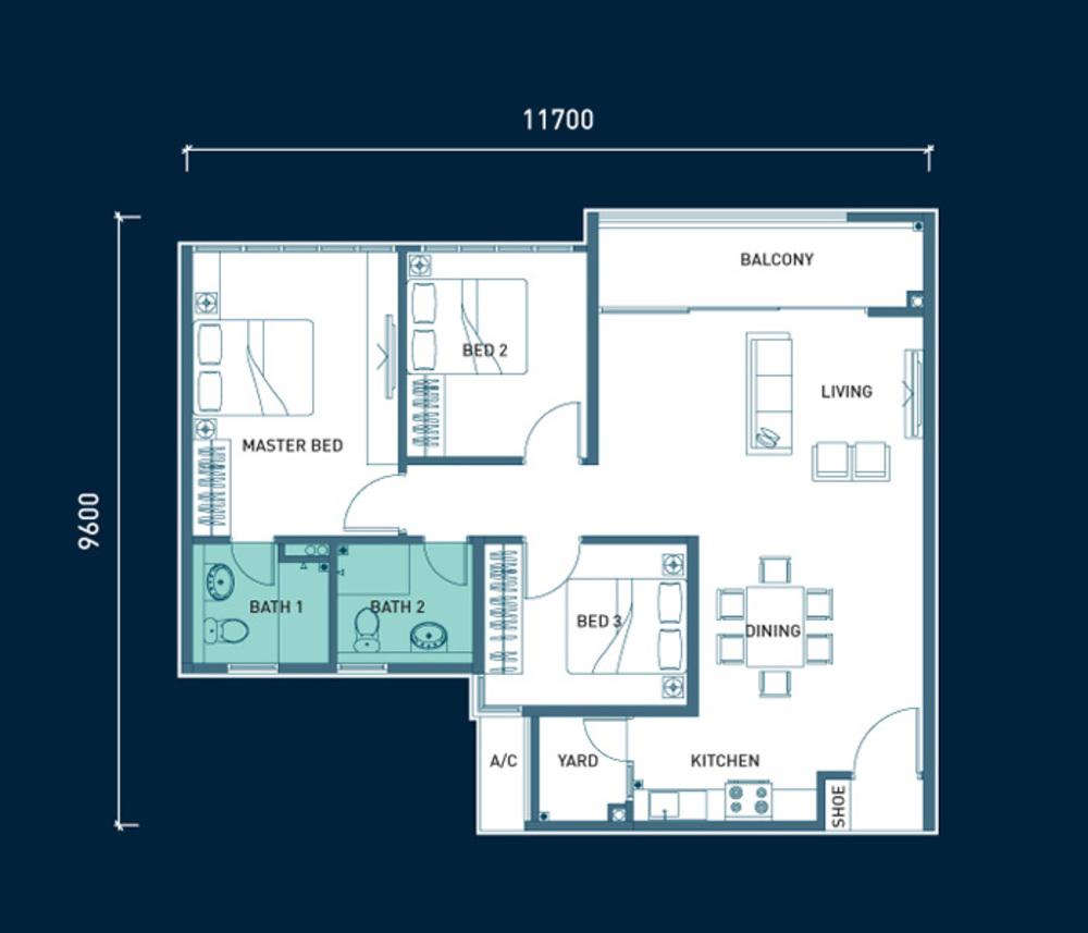 8scape Type B Floor Plan