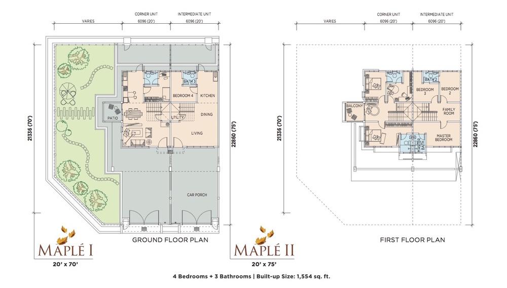 Maplé Typical Unit Floor Plan