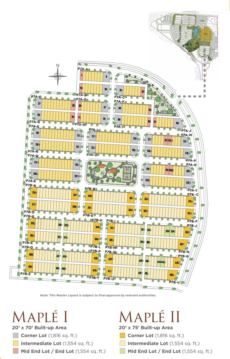 Site Plan of Maplé